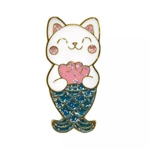 Kitty Mermaid Enamel Pin